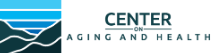 center on aging and health logo